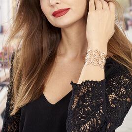 Bracelet Jonc Danyl Acier Rose - Bracelets fantaisie Femme | Histoire d'Or