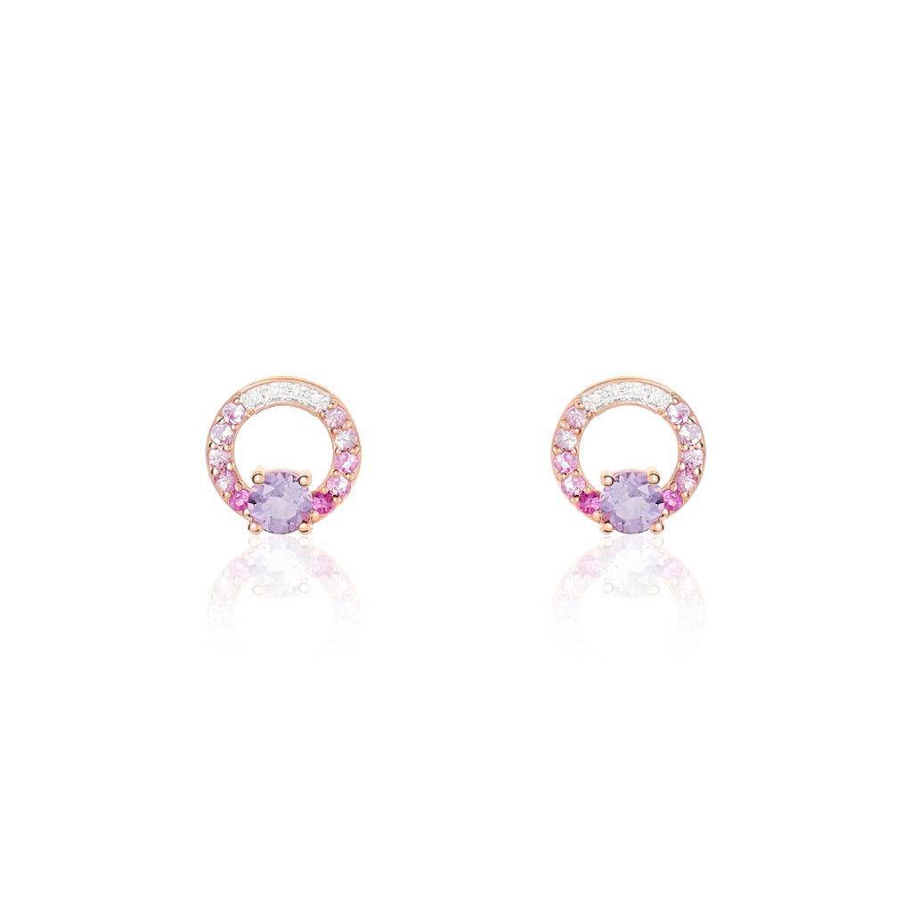 Boucles D'oreilles Or Rose Tie And Dye