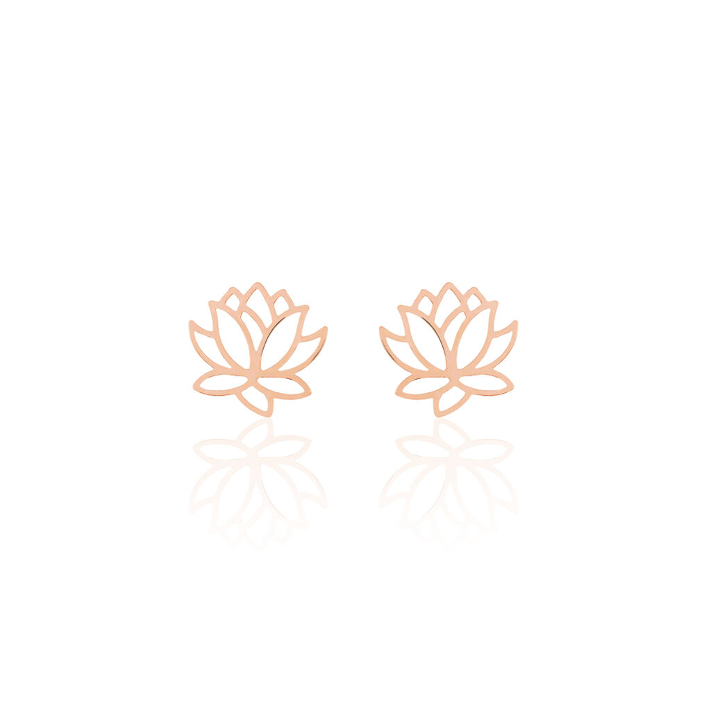 Boucles D'oreilles Puces Rosita Argent Rose - Boucles d'oreilles fantaisie Femme | Histoire d'Or
