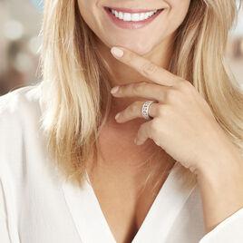 Bague Aella Or Blanc Oxyde De Zirconium - Bagues avec pierre Femme | Histoire d'Or
