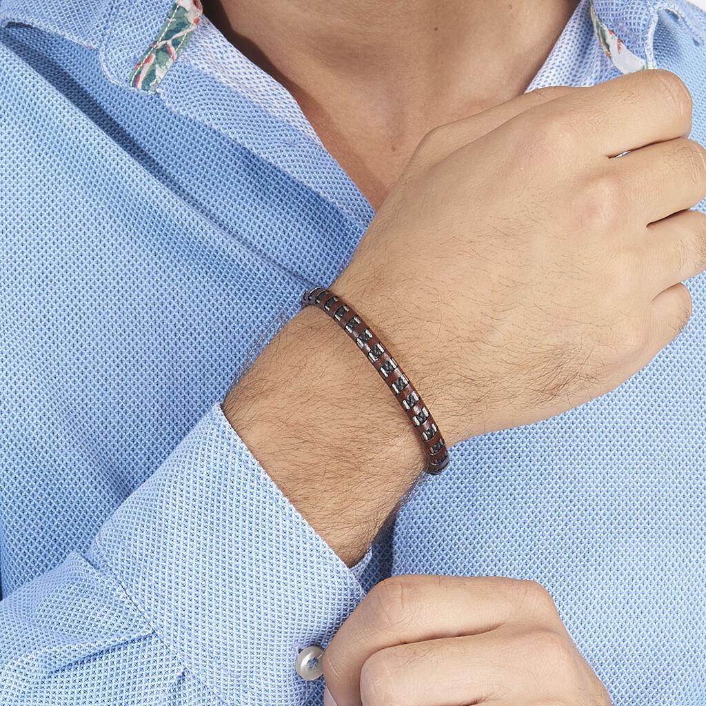 Bracelet Edouard Acier Blanc - Bracelets fantaisie Homme | Histoire d'Or