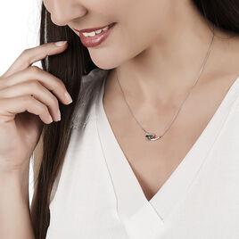 Collier Petale Or Blanc Saphir Et Diamant - Bijoux Femme   Histoire d'Or