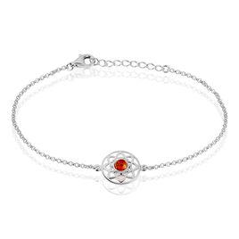 Bracelet Capucina Argent Blanc Ambre - Bracelets fantaisie Femme | Histoire d'Or