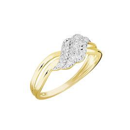 Bague Or Jaune Ricoria Diamants - Bagues avec pierre Femme | Histoire d'Or