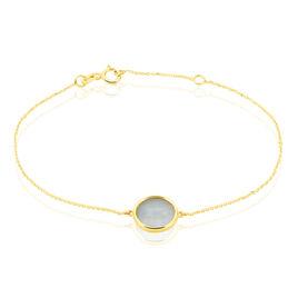 Bracelet Cemre Or Jaune Aigue Marine - Bijoux Femme   Histoire d'Or