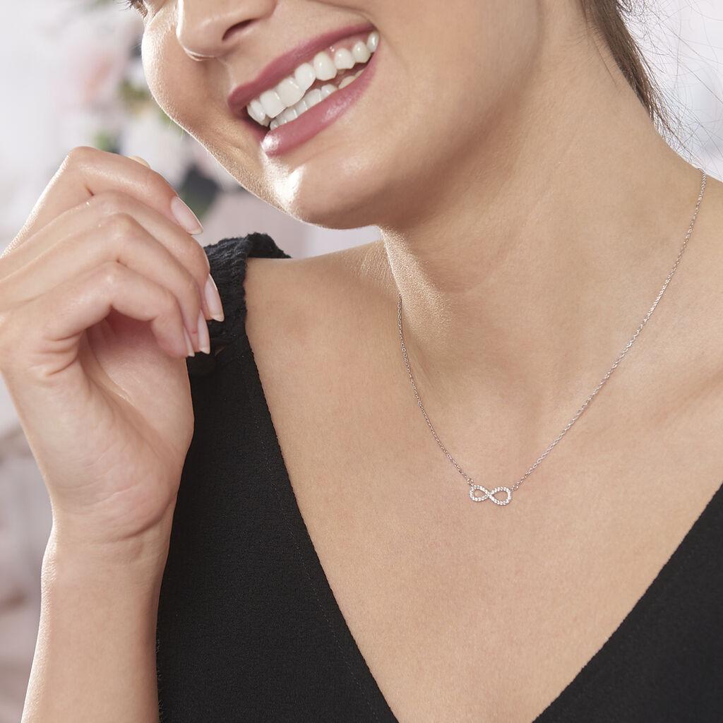 Collier Veda Argent Blanc Oxyde De Zirconium - Colliers Infini Femme | Histoire d'Or