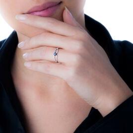 Bague Orlana Or Blanc Saphir Et Diamant - Bagues solitaires Femme   Histoire d'Or