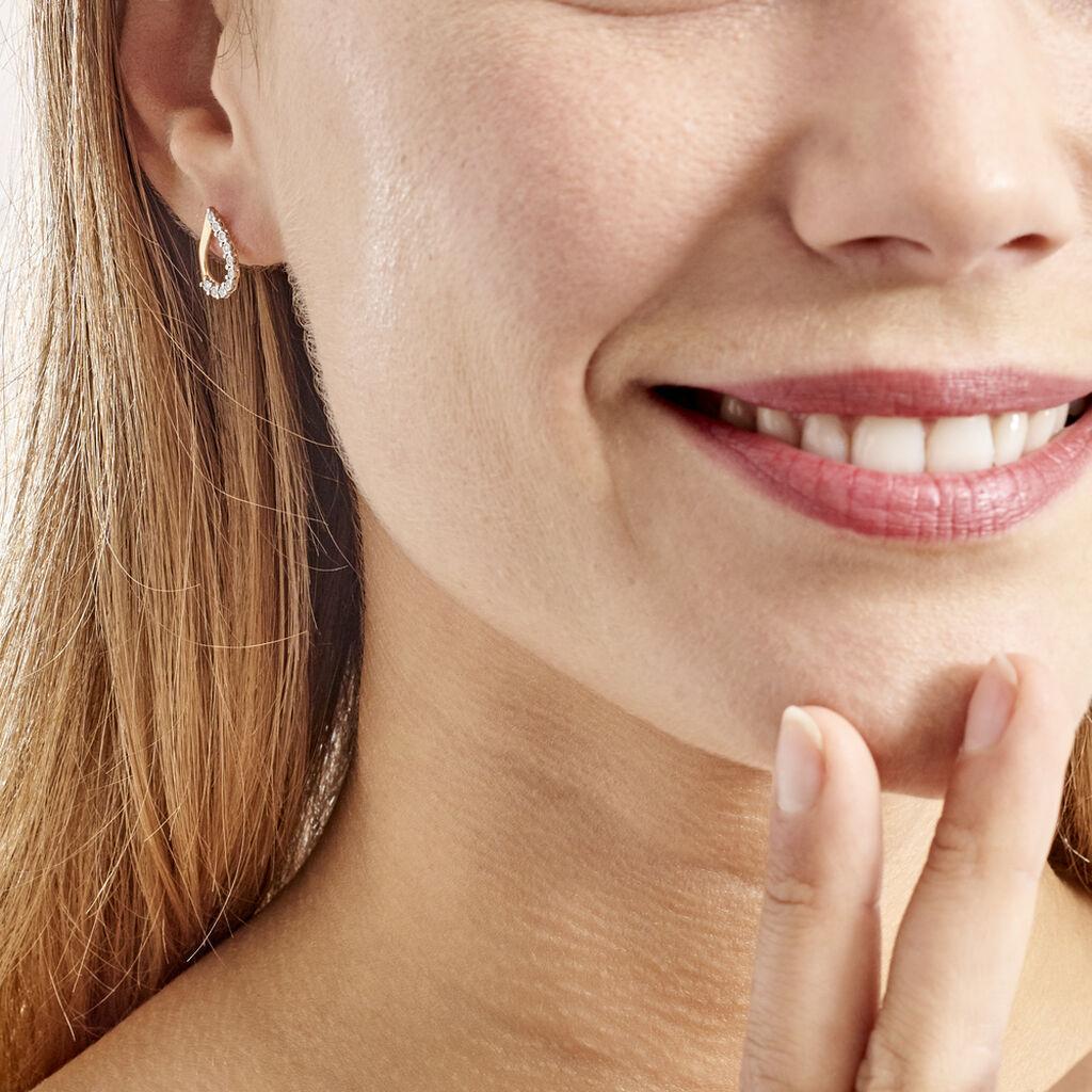 Boucles D'oreilles Puces Chrystalise Or Jaune Diamant - Clous d'oreilles Femme | Histoire d'Or