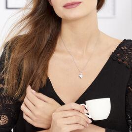 Collier Millie Argent Blanc Oxyde De Zirconium - Colliers fantaisie Femme   Histoire d'Or