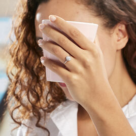 Bague Solitaire Shandrany Argent Blanc Oxyde De Zirconium - Bagues solitaires Femme | Histoire d'Or