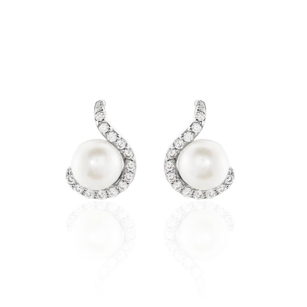 Boucles D'oreilles Pendantes Marsia Argent Perle De Culture - Boucles d'oreilles fantaisie Femme | Histoire d'Or