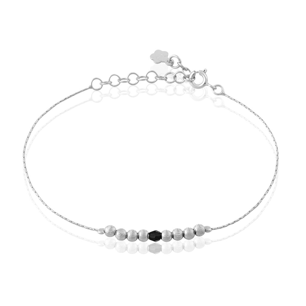 Bracelet Cyprielle Argent Blanc Pierre De Synthese - Bracelets fantaisie Femme | Histoire d'Or