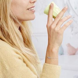 Bracelet Elwenn Argent Blanc - Bracelets Arbre de vie Femme | Histoire d'Or