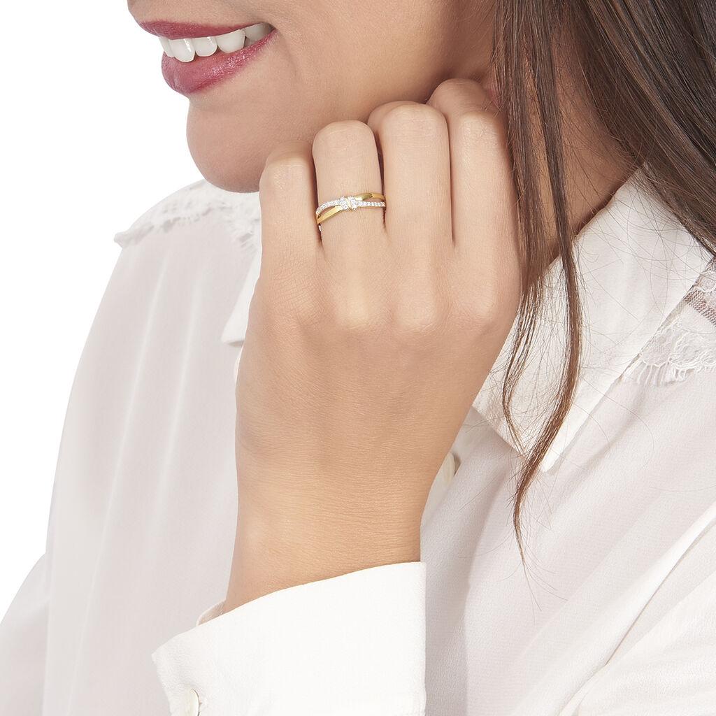Bague Sindy Or Jaune Diamant - Bagues avec pierre Femme   Histoire d'Or