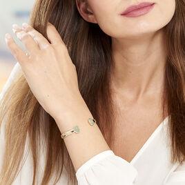 Bracelet Jonc Caterin Plaque Or Jaune Aventurine - Bracelets joncs Femme | Histoire d'Or