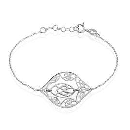 Bracelet Chezaf Argent Blanc - Bracelets Plume Femme | Histoire d'Or