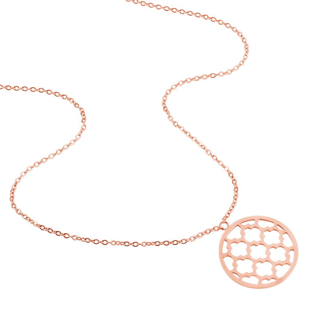 Collier Nevenka Acier Rose - Colliers Trèfle Femme   Histoire d'Or