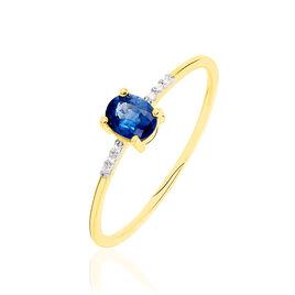 Bague Or Jaune Jehane Saphir Et Diamants - Bagues avec pierre Femme | Histoire d'Or