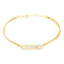 Bracelet Otilieae Or Jaune Nacre - Bracelets Coeur Femme   Histoire d'Or