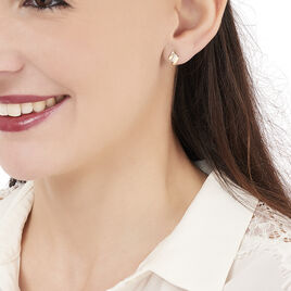 Boucles D'oreilles Puces Dolene Or Jaune Diamant - Clous d'oreilles Femme | Histoire d'Or