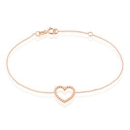Bracelet Elizabeta Or Rose - Bracelets Coeur Femme | Histoire d'Or