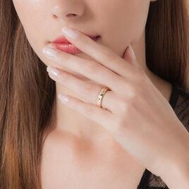 Bague Nathy Plaque Or Jaune Oxyde De Zirconium - Bagues avec pierre Femme | Histoire d'Or