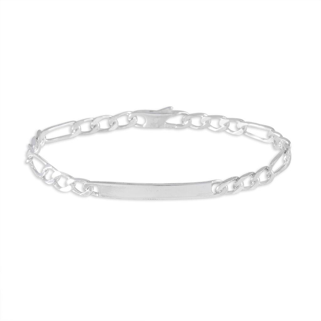 Bracelet Identité Meriamae Argent Blanc - Bracelets fantaisie Femme | Histoire d'Or