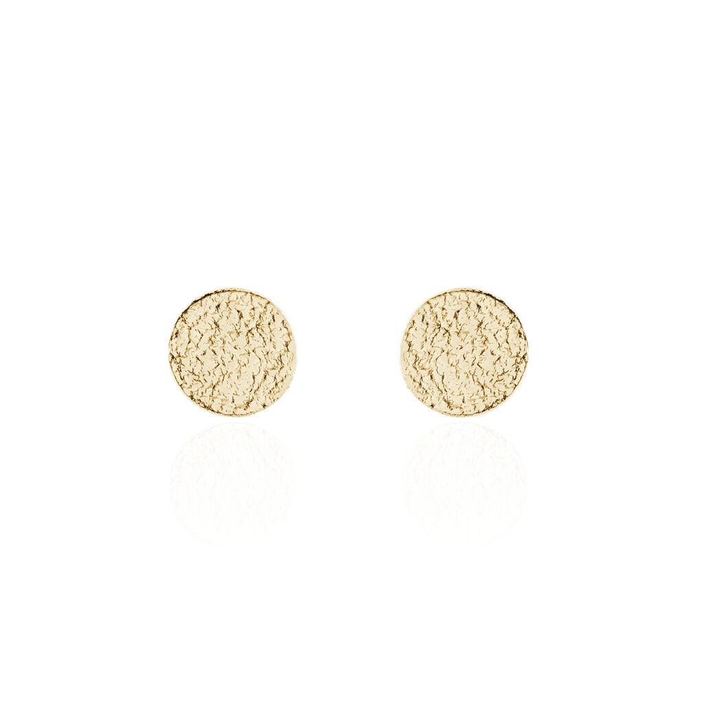 Boucles D'oreilles Puces Blanka Plaque Or Jaune - Boucles d'oreilles fantaisie Femme | Histoire d'Or