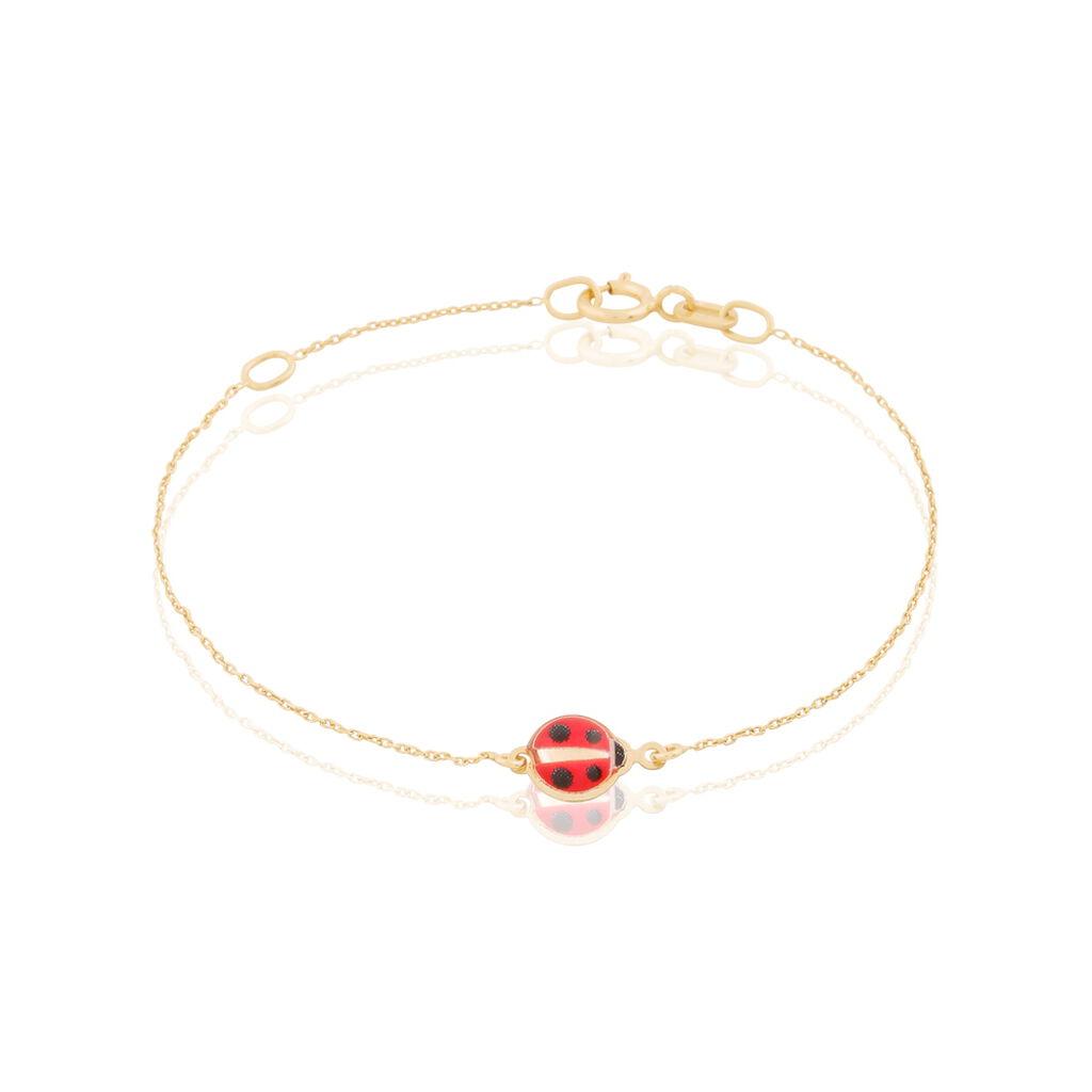 Bracelet Helidie Coccinelle Or Jaune - Bracelets Naissance Enfant | Histoire d'Or