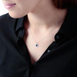Collier Angelika Or Blanc Saphir Et Diamant - Bijoux Femme | Histoire d'Or