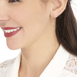 Boucles D'oreilles Pendantes Ainhoa Or Tricolore Diamant - Boucles d'oreilles pendantes Femme | Histoire d'Or