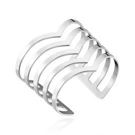 Bracelet Manchette Abid Acier Blanc - Bracelets fantaisie Femme | Histoire d'Or