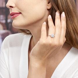 Bague Solitaire Soa Argent Blanc Oxyde De Zirconium - Bagues solitaires Femme | Histoire d'Or
