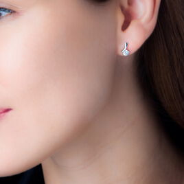 Boucles D'oreilles Pendantes April Argent Blanc Oxyde De Zirconium - Boucles d'oreilles fantaisie Femme | Histoire d'Or