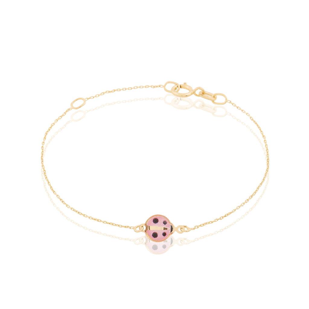 Bracelet Helidie Coccinelle Or Jaune - Bracelets Naissance Enfant   Histoire d'Or