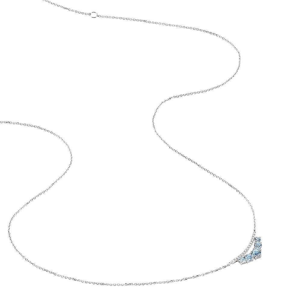 Collier Or Blanc Topaze - Bijoux Femme | Histoire d'Or
