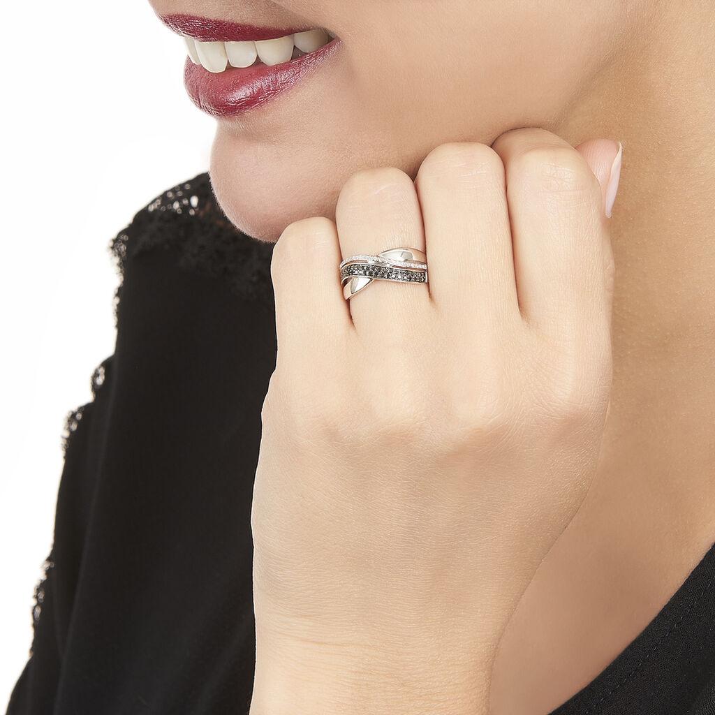 Bague Merlin Or Blanc Diamant - Bagues avec pierre Femme | Histoire d'Or