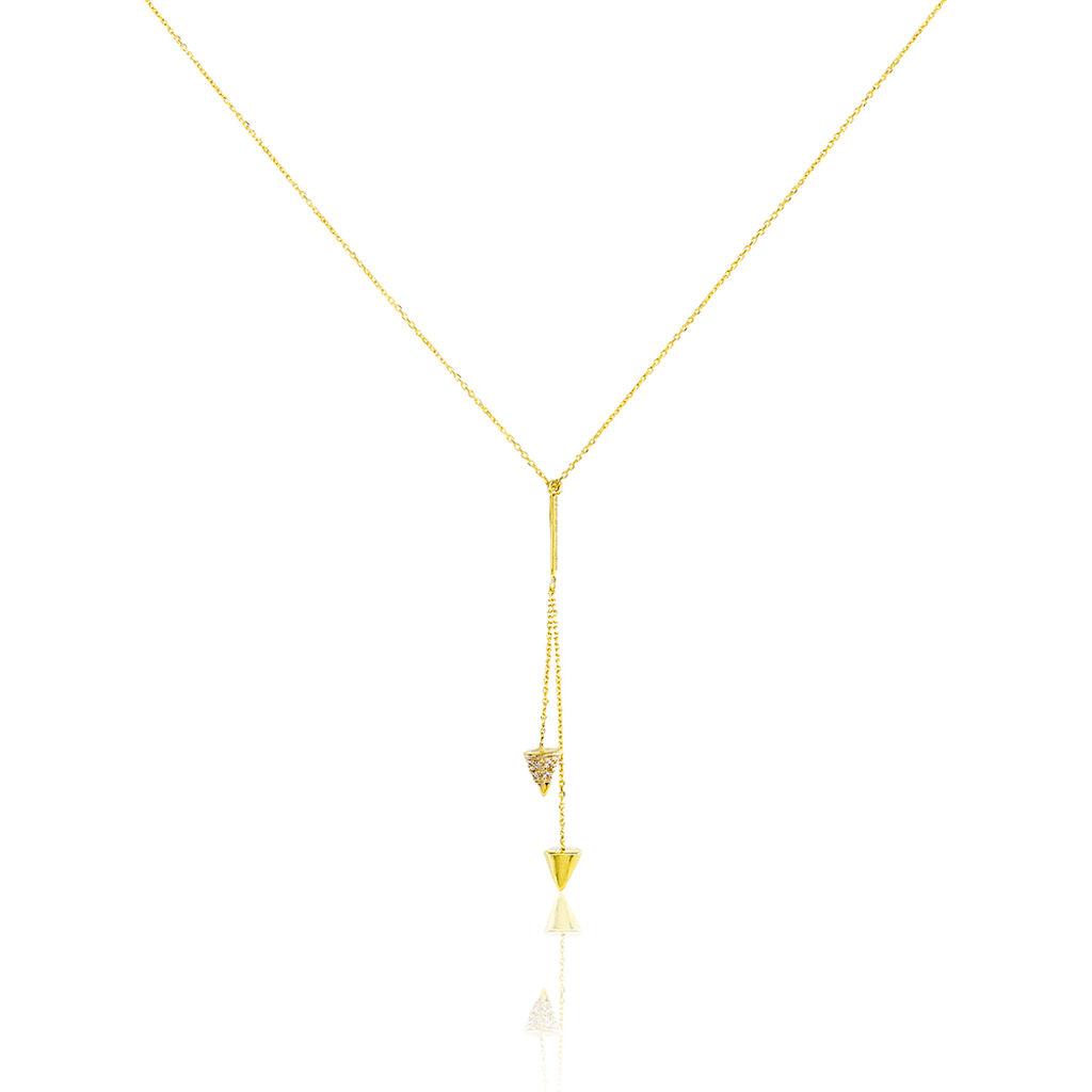 Collier Delora Or Jaune Oxyde De Zirconium - Bijoux Femme | Histoire d'Or