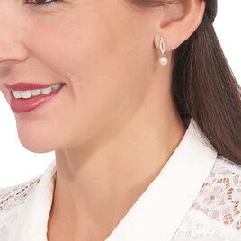 Boucles D'oreilles Pendantes Tesnimae Or Jaune Oxyde Perle De Culture - Boucles d'oreilles pendantes Femme   Histoire d'Or