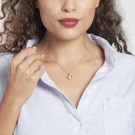 Collier Condatis Argent Rhodié Oxyde - Colliers Coeur Femme   Histoire d'Or