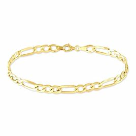 Bracelet Cameo Maille Alternee 1/3 Or Jaune - Bracelets chaîne Homme | Histoire d'Or