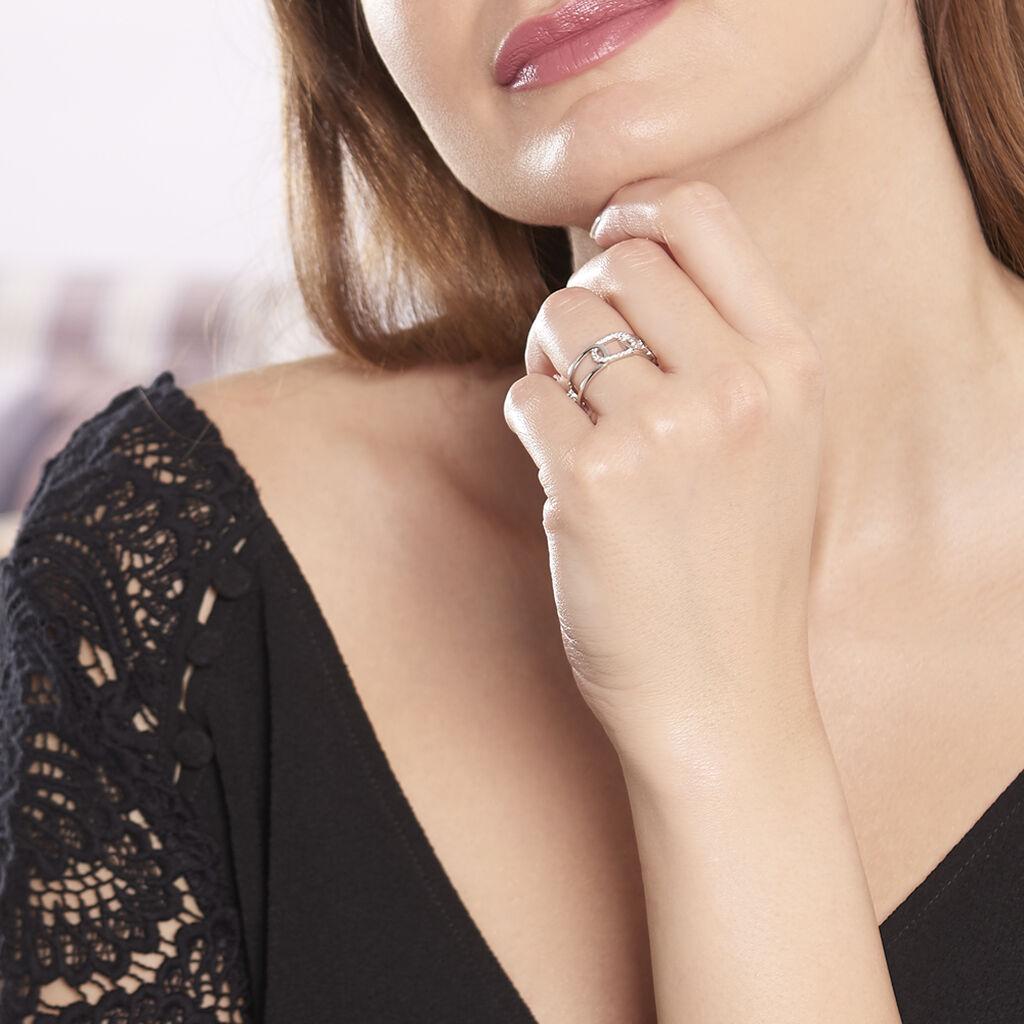Bague Juliettine Argent Blanc Oxyde De Zirconium - Bagues avec pierre Femme | Histoire d'Or