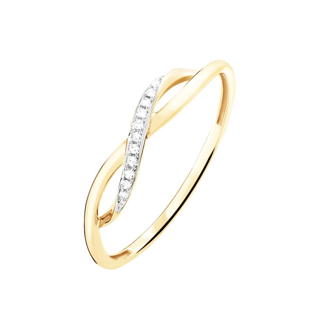 Bague Smina Or Jaune Diamant - Bagues Infini Femme | Histoire d'Or