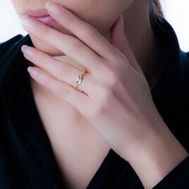 Bague Solitaire Or Bicolore Diamant - Bagues avec pierre Femme | Histoire d'Or