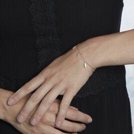 Bracelet Plaqué Or Jaune Libby - Bracelets Plume Femme   Histoire d'Or