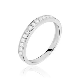 Alliance Dionysa Or Blanc Diamant - Alliances Femme | Histoire d'Or