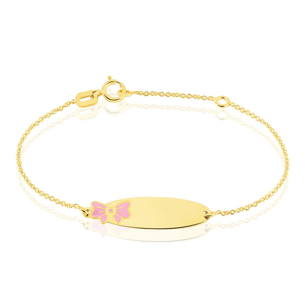 Bracelet Identité Helee Noeud Or Jaune - Bracelets Communion Enfant   Histoire d'Or