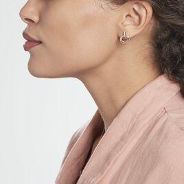 Boucles D'oreilles Pendantes Or Bicolore Eloisia Diamants - Boucles d'oreilles pendantes Femme | Histoire d'Or