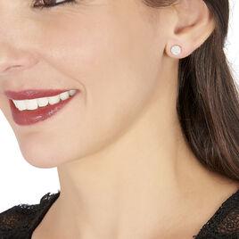 Boucles D'oreilles Puces Kristin Or Blanc Diamant - Clous d'oreilles Femme   Histoire d'Or