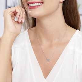 Collier Aelaig Argent Blanc - Colliers Coeur Femme | Histoire d'Or